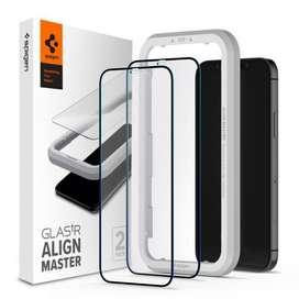 Spigen Tempered Glass AlignMaster Full Cover - Iphone 12 Mini