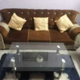New Selling sofa set with glass table