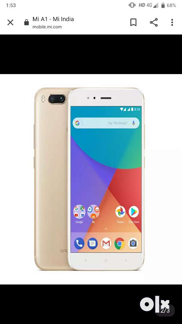 Anybody need my mobile Mi a1 one year old and good condition 0