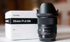 Lensa Sigma 35mm F1.4 DG for Canon
