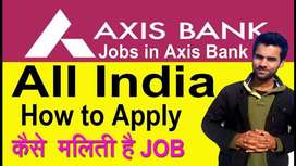 Axis process hiring for KYC / Field Executives in NCR  -  Apply  now .
