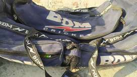 Cricket kit bag with equipments