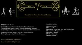 Ranajit Baruah Fitness consultation & Training