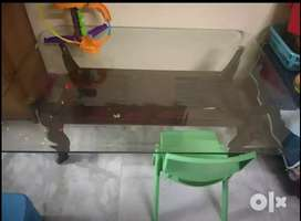 Glass centre table for home..