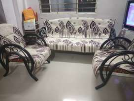 Five Seater Steel Sofa With Covers (3+1+1)