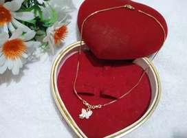 perhiasan xuping kalung anak motif butterfly