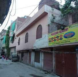 In Commercial area  front 6 shops and house and back py plot 6 Mrla