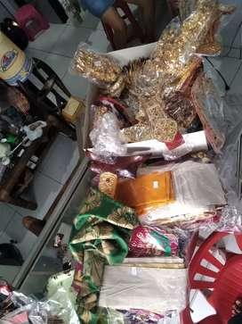 Keperluan Payas Agung/Pernikahan Fullset sepuhan perak (Cuci Gudang)