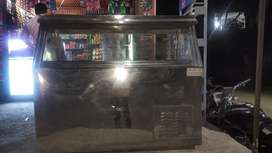 Ice cream parlour fridge