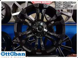 Velg Pajero Everest Fortuner murah Fuel Viper R20X9 hole 6x139.7 ET 12