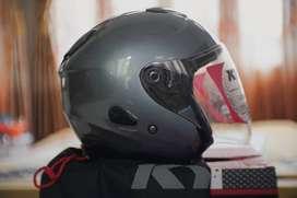 Helm Kyt Kyoto Solid Grey (Abu)