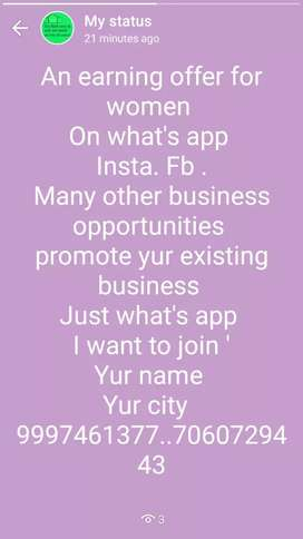 Earn money on what's app see our ad on screen...