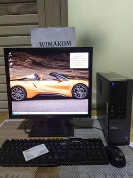 PC cpu Dell 390 Core i7 Ram 4gb hdd 500gb DVD second free WIFI