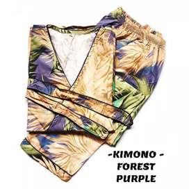 KIMONO TIDUR FOREST