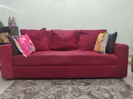 3 seater sofa with back cushions
