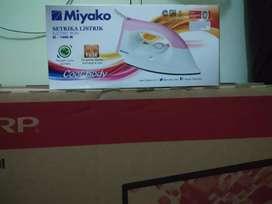 FOR SALE setrika listrik  miyako baru segel garansi resmi murah meriah