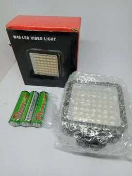 Lampu LED untuk fotografi bonus baterai