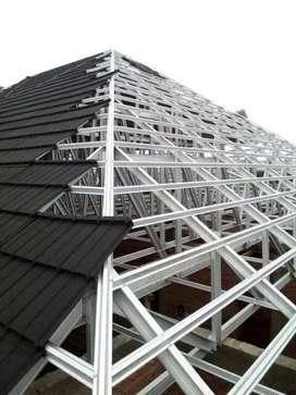 Krangka atap kanopi baja ringan polos