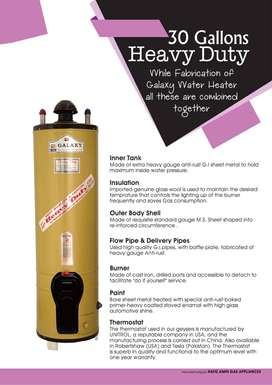 GALAXY HEAVY DUTY GEYSER MODEL WATER HEATER 30 GALLON