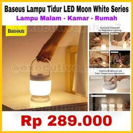Baseus Lampu Tidur LED Moon White Series - Lampu malam - kamar - rumah
