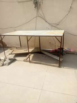 Iron stand for covering generator