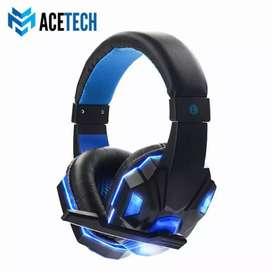 Headphone headset gaming super bass Hp laptop komputer ACETECH