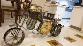 Harley Davidson cooper finish bike with clock