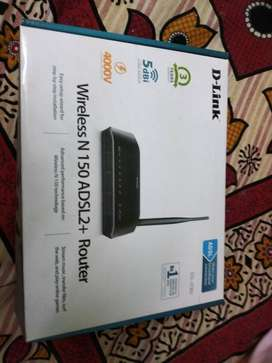 Black D-Link Wireless N 150 ADSL2+ Router Box