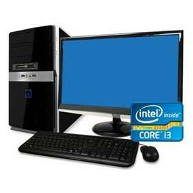 Intel core i3 6gb ram 500gb hdd LCD  keyboard / mouse just rs 8999 1yr
