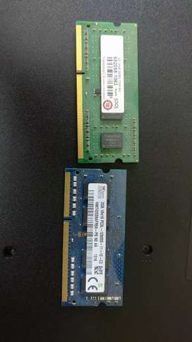 Laptop DDR3 Ram 2gb + 2gb