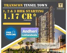 3bhk lowest price in Andheri west link Road in new launch easy EMI