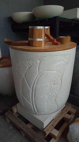 Bak mandi terazzo tipe Annona kualitas high premium FREE ONGKIR