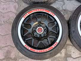 Sparco Low Profile 14 inch multi nut & new tyers