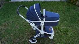 Kereta Dorong Bayi / Stroller  BabyElle S 392 Oasis Navy Blue
