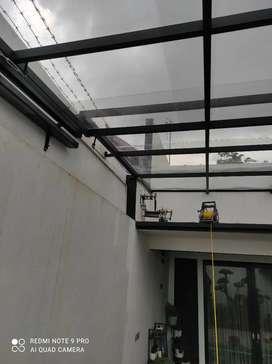 SUPER MURAH Kanopi baja ringan atap spandek150rb/m,