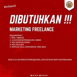 Dibutuhkan marketing freelance
