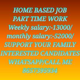 Work from home job New opening start