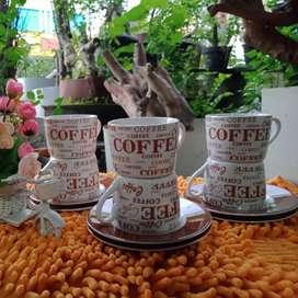 BTL1 Set Cangkir Motif Coffee BTL