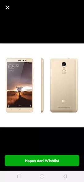 Xiaomi note 3 3/32 gransi 1 tahun