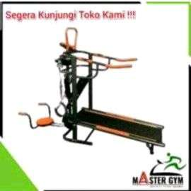 alat fitness manual treadmil 6 fungsi // T 04