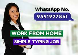Work from home. Simple job with good payment. Earn daily Rs.1000/-