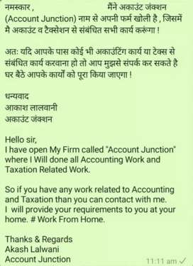 Account junction ( ITR,  GST and all type of accounts related works)