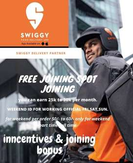join now in swingy as delivery partner