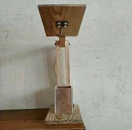 Lampu LED serbaguna dari kayu