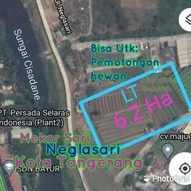 Tanah Luas 6,2 Ha di Neglasari kota Tangerang