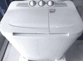 Mesin Cuci Sharp 2 Tub 6.5 Kg | BAYAR DITEMPAT