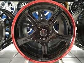 Ready Stock Velg Mobil Innova, Xpander, Harier dll R18 HSR SAGA BK RED
