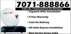 100% Cashback- Tata Sky DTH - D2h Tatasky Dish - All India DishTV -COD
