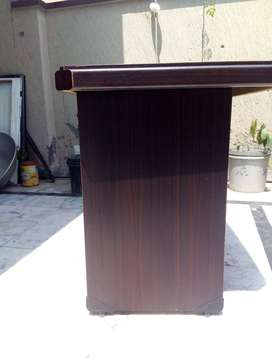 Original Double Round strong Table + steel Leather Chair