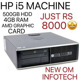 i5 CPU HP WITH GRAPHIC CARD / 500GB & 4GB / WITH WARRANTY/ CALL US NOW